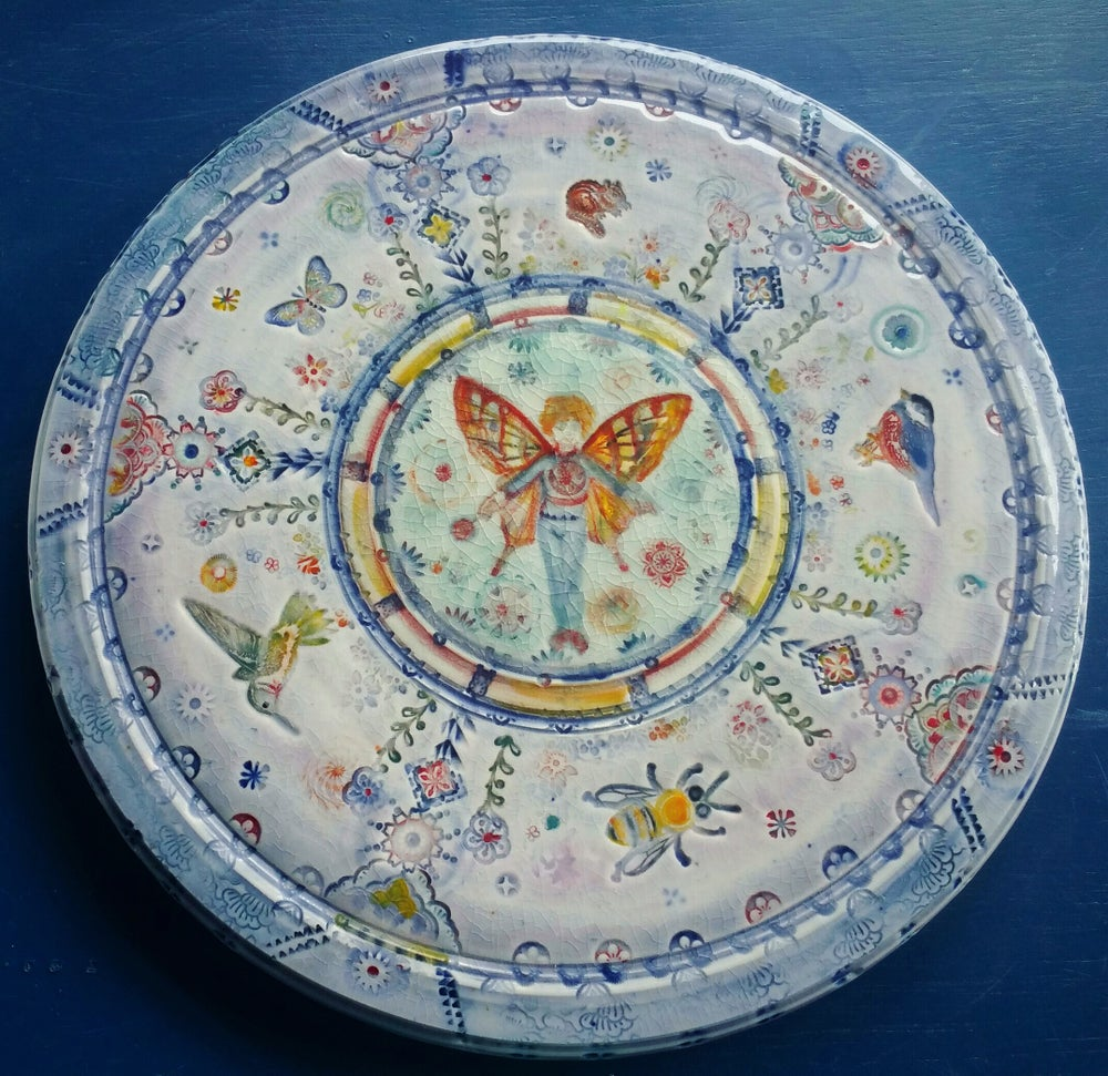 Image of Butterfly Boy Garden Trivet