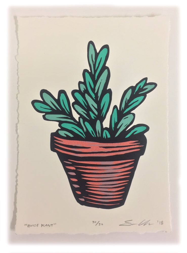 Image of House Plant- Screenprint *FREE SHIPPING!