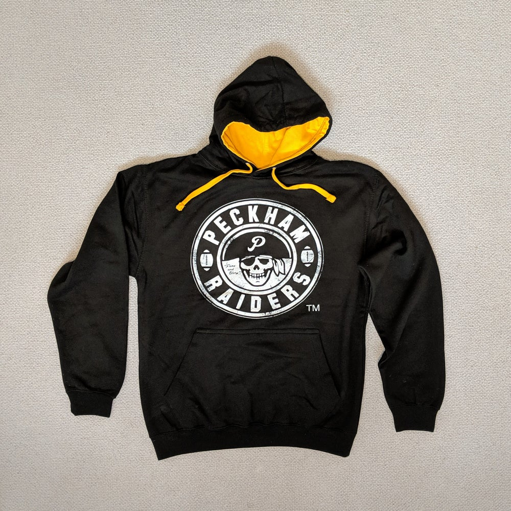 Image of Peckham Raiders - Black / Golden Orange Hoodie