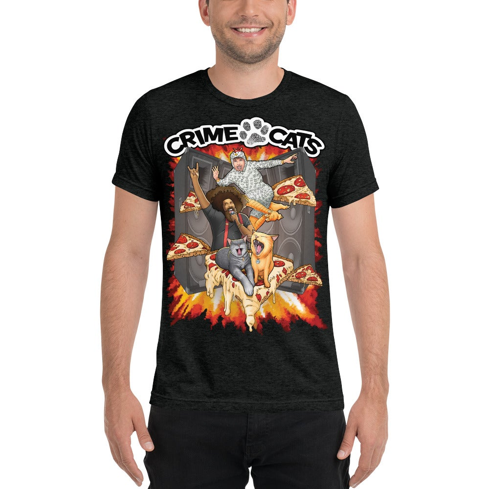 "Image of Adult ""Heavy Metal Pizza Party"" Concert T-shirt"