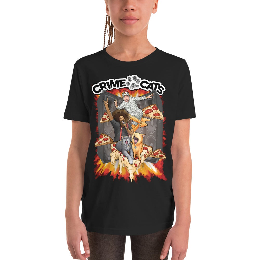 "Image of Kid's Unisex ""Heavy Metal Pizza Party"" Concert T-shirt"