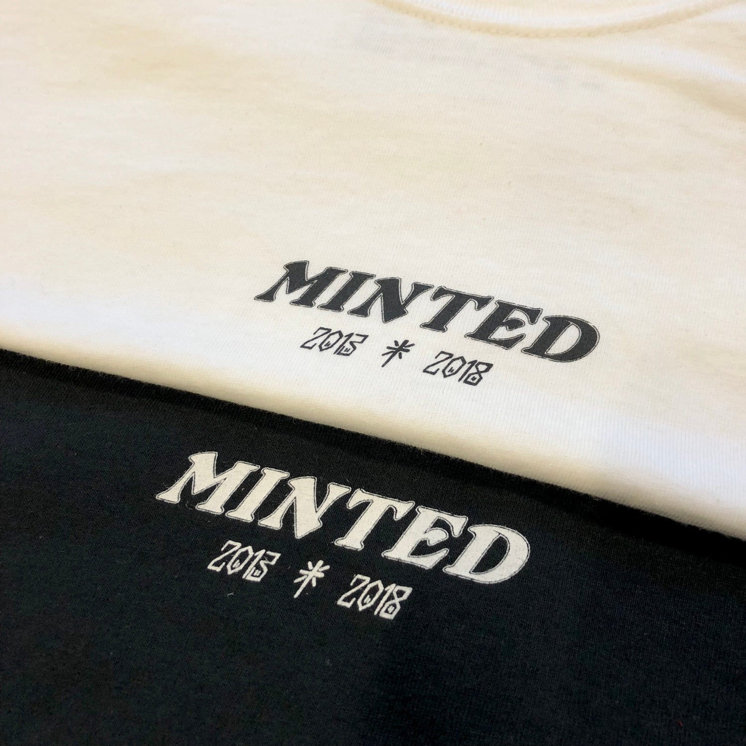 Image of 2018 Minted Anniversary Tee - Black