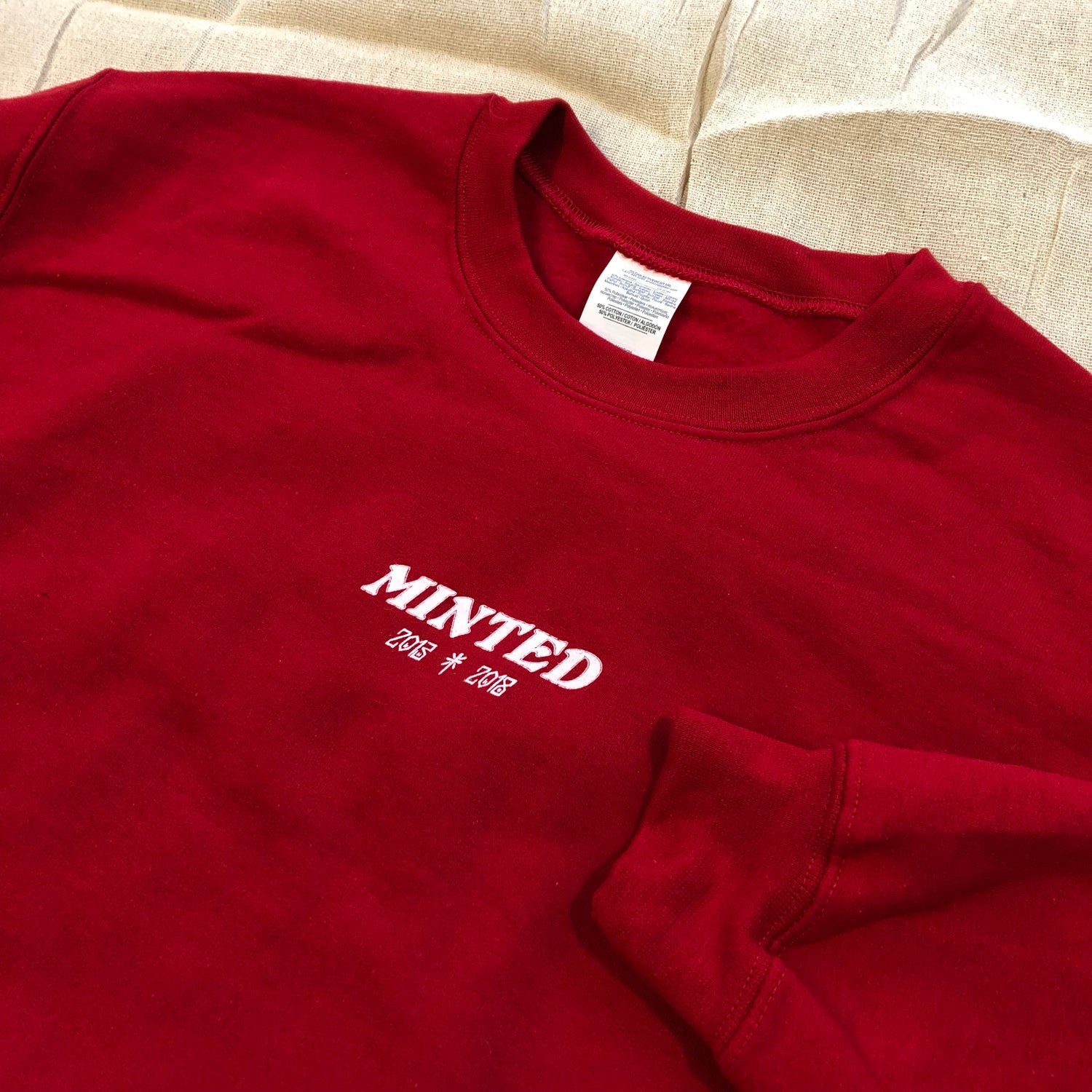 Image of Minted Anniversary Sweat - Red