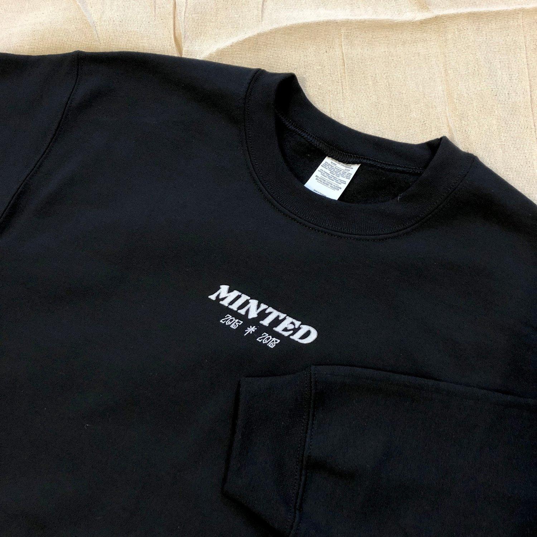 Image of Minted Anniversary Sweat - Black
