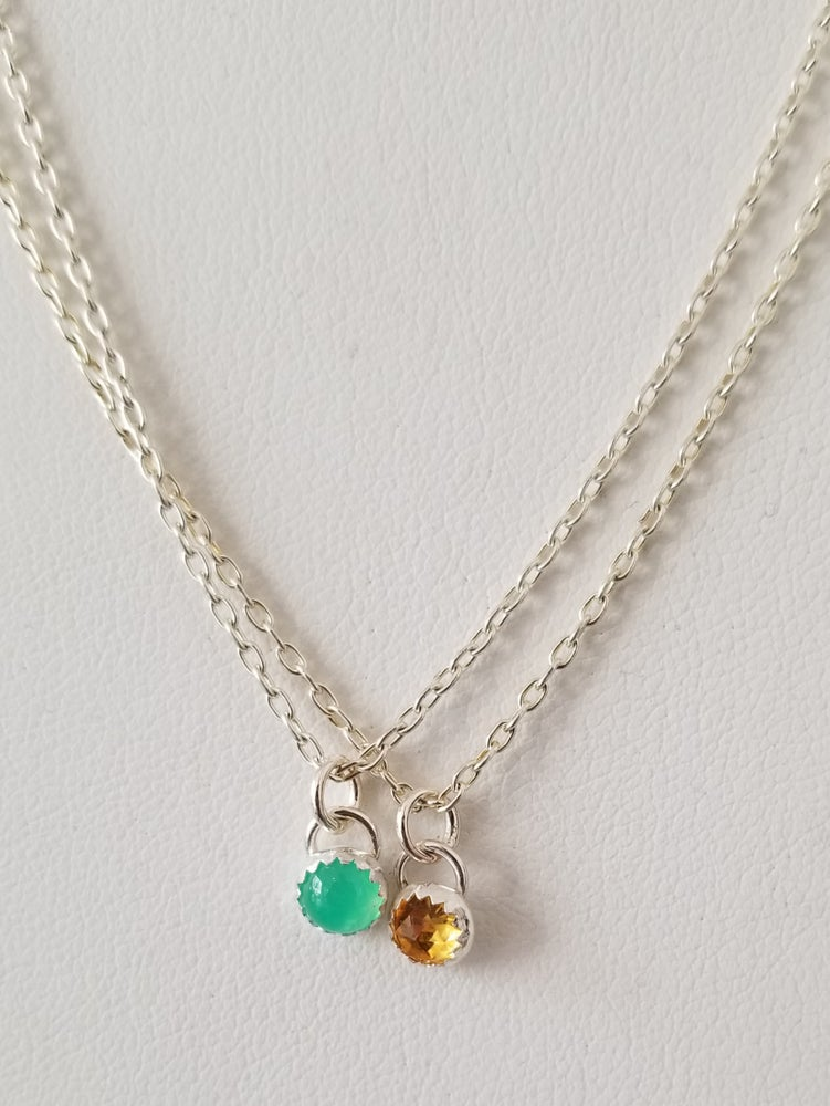Image of 5mm gemsone necklace