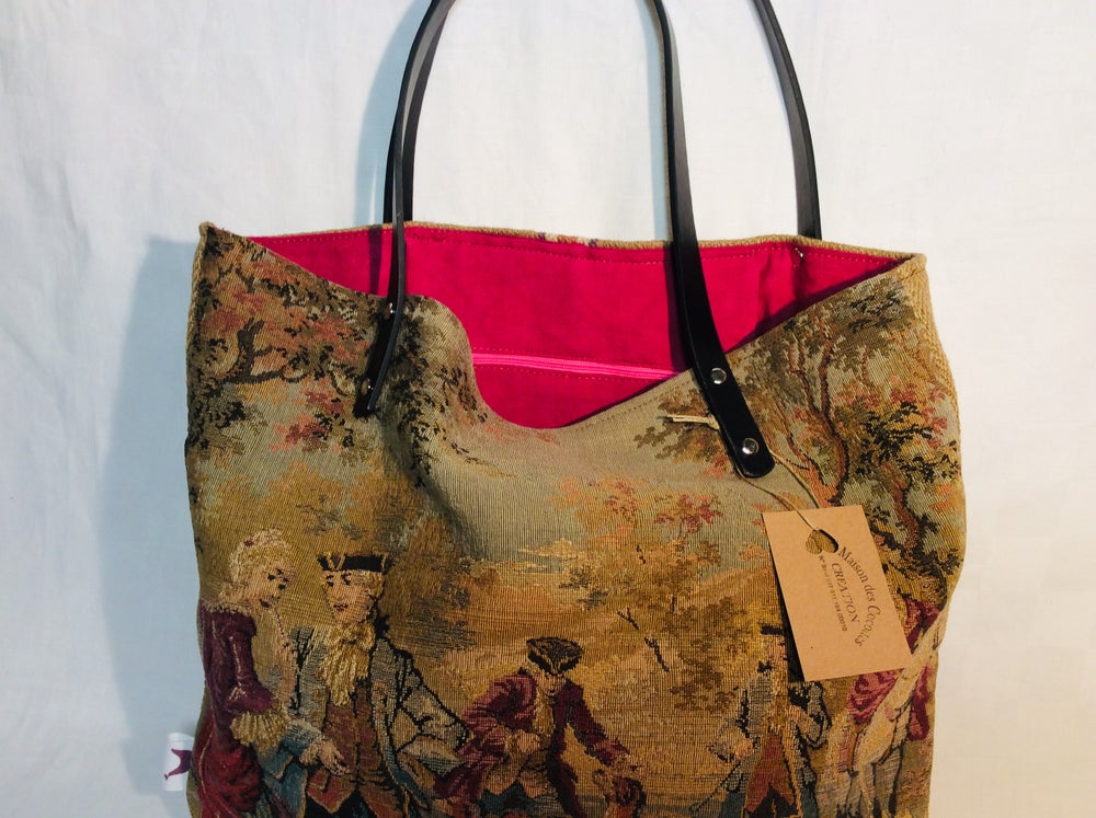 Image of Sac besace « tapisserie»