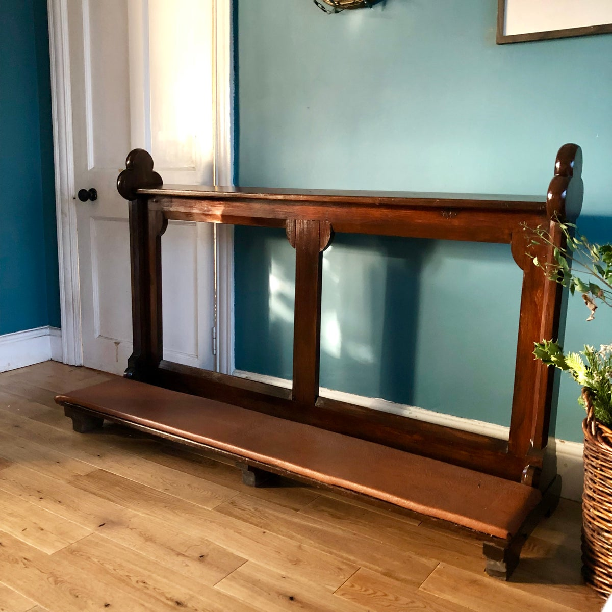 Image of Antique kneeling pew