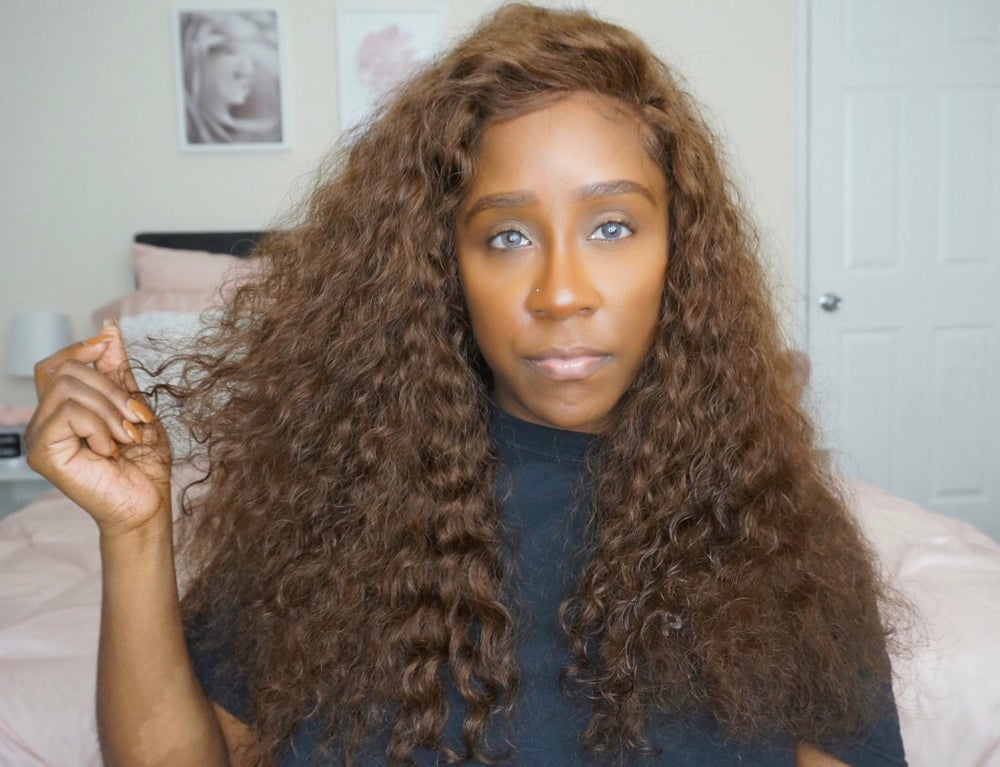 Image of FULL LACE CURLY BRAZILIAN WIG