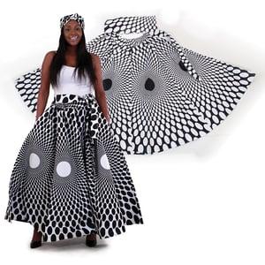 Image of Polka Dot Maxi Skirt w/ Scarf