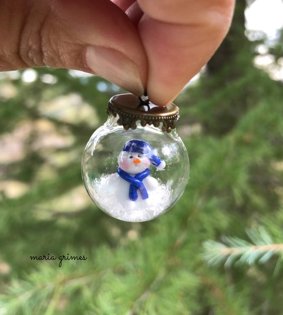 Image of ~JINGLE~ SNOW GLOBE PENDANT