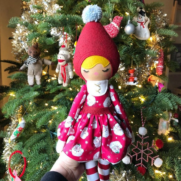 Image of Santa Baby Elf Doll Classic