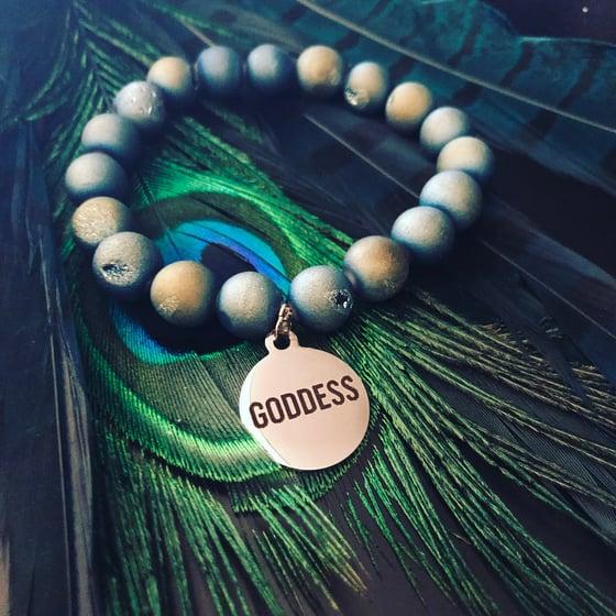 Image of Goddess Titanium Agate Geode Bracelet