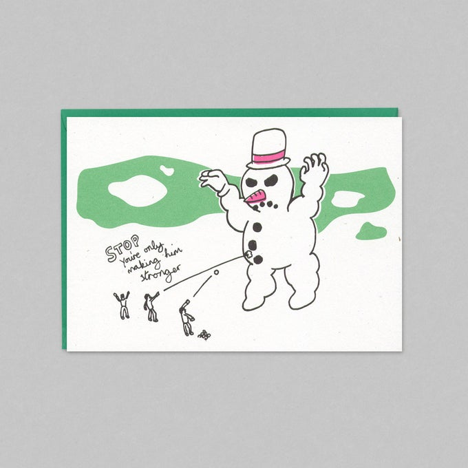 Image of SNOWMAN - CHRISTMAS CARD PACK (5 CARDS)