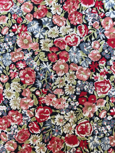 Image of Liberty Fabric - Chive Rød/grøn