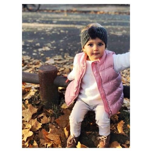"""Image of BANDEAUX ENFANTS:  MODELE """" ISAURE""""    ROSE / 2-8 ans"""