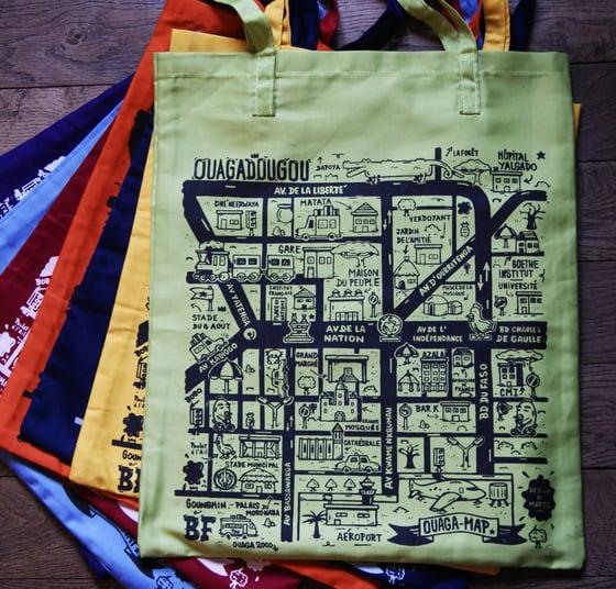 """Image of """"Ouaga map"""", tote bag"""
