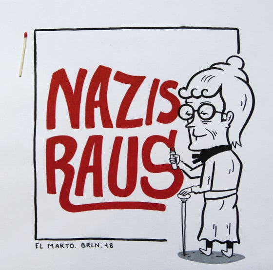 "Image of ""Nazis raus !"" (Nazis get out !)"