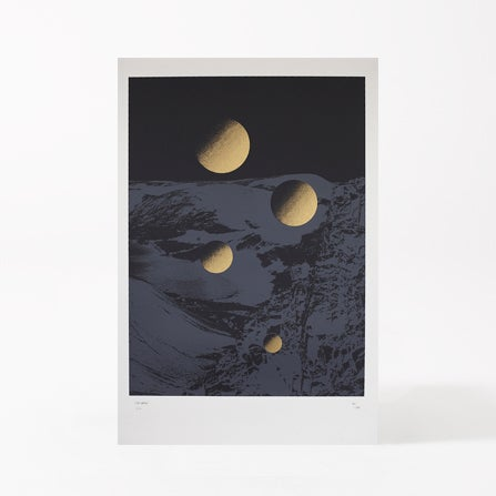 Image of MOONSCAPE BLACK/GOLD