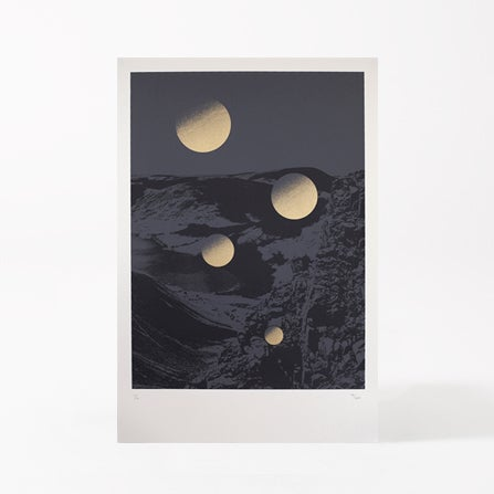 Image of MOONSCAPE GREY/GOLD
