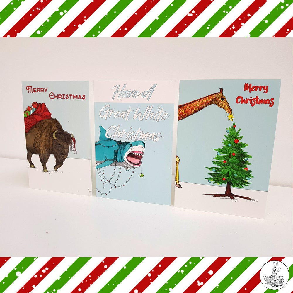 Image of Hand Illustrated Animal Christmas Cards