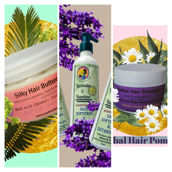 Image of Hair Care Combo #1 - Conditioner, Pomade, Buttercream