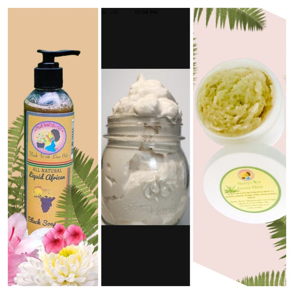 Image of Skincare Combo #2 Sensitive Skin Care - Elixir, Moisturizer, Liquid Soap