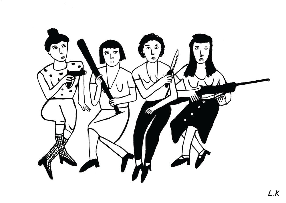 Image of Girl Gang - A5 Art Print