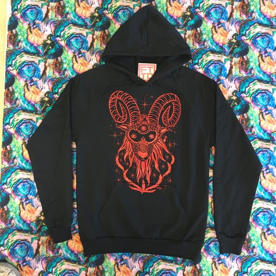 Image of Old Horny RED Pull Over Hoodie