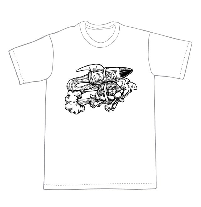 Vroom Turtle T-shirt (A1) **FREE SHIPPING**