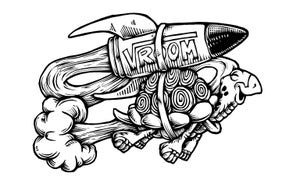 Image of Vroom Turtle T-shirt **FREE SHIPPING**