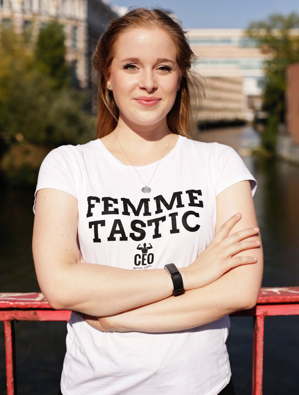 Image of FEMME TASTIC Shirt   black + white