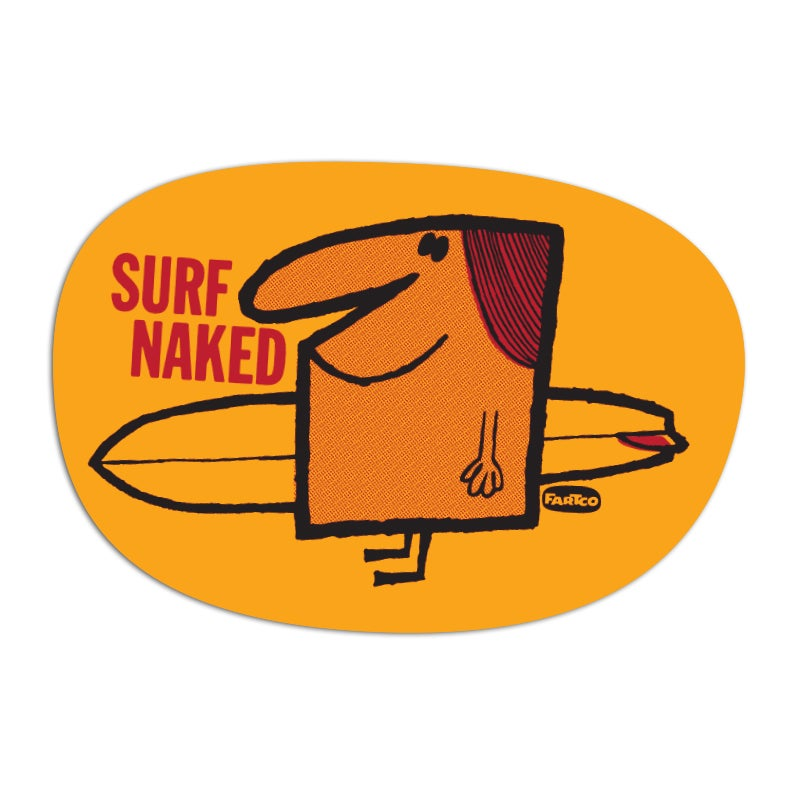 Image of Surf Naked Sticker
