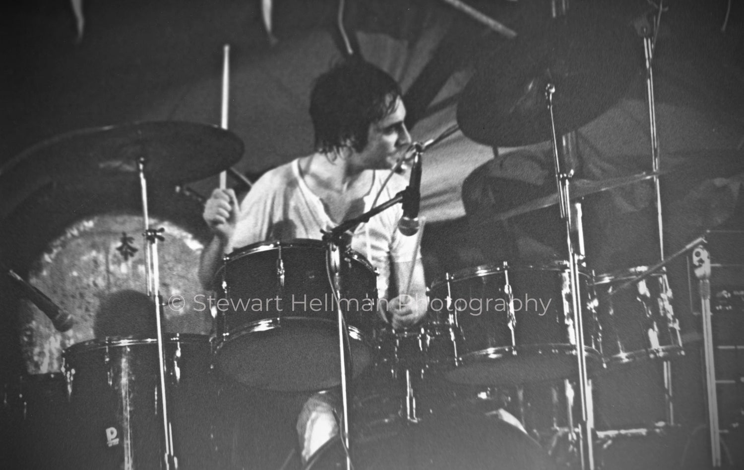 Image of Keith Moon (The Who, Forest Hills Stadium, 1971) : Limited Edition Fine Art Print #1