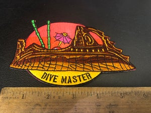 """Image of 6"""" TS Nautilus """"Dive Master"""" patch with iron on backing."""