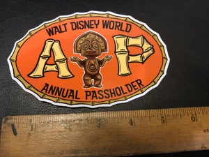 Image of Custom WDW A.P. vinyl sticker