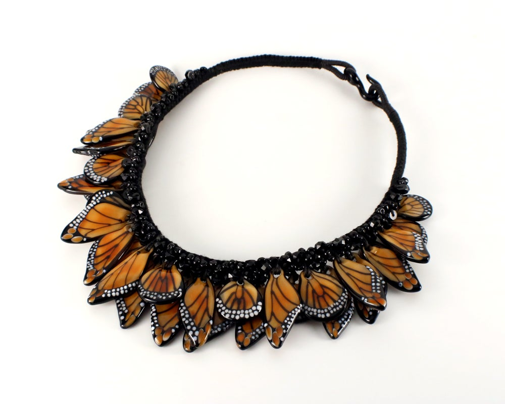 Image of Monarch Wing Necklace