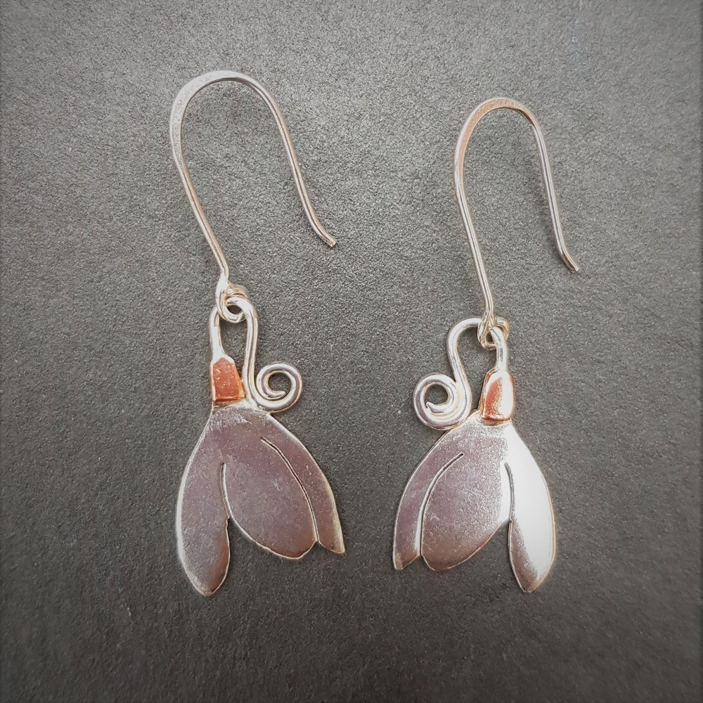 Image of Snowdrop Dangle Earrings