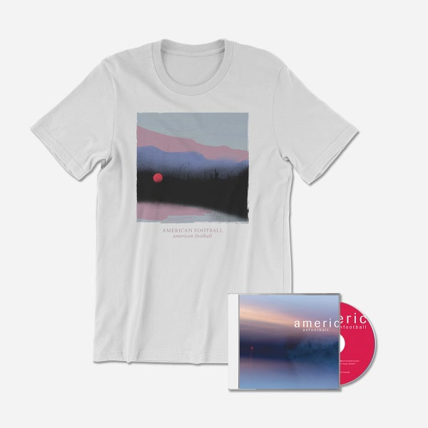 Image of PRE-ORDER American Football (LP3) CD + Cover Art T-Shirt (White) Bundle [Ships 3/22/19]