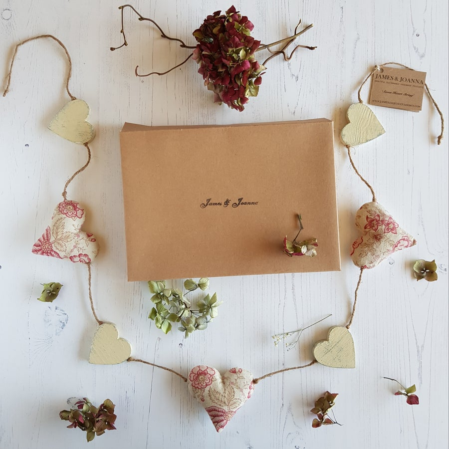 Image of Cream Heart Garland - II
