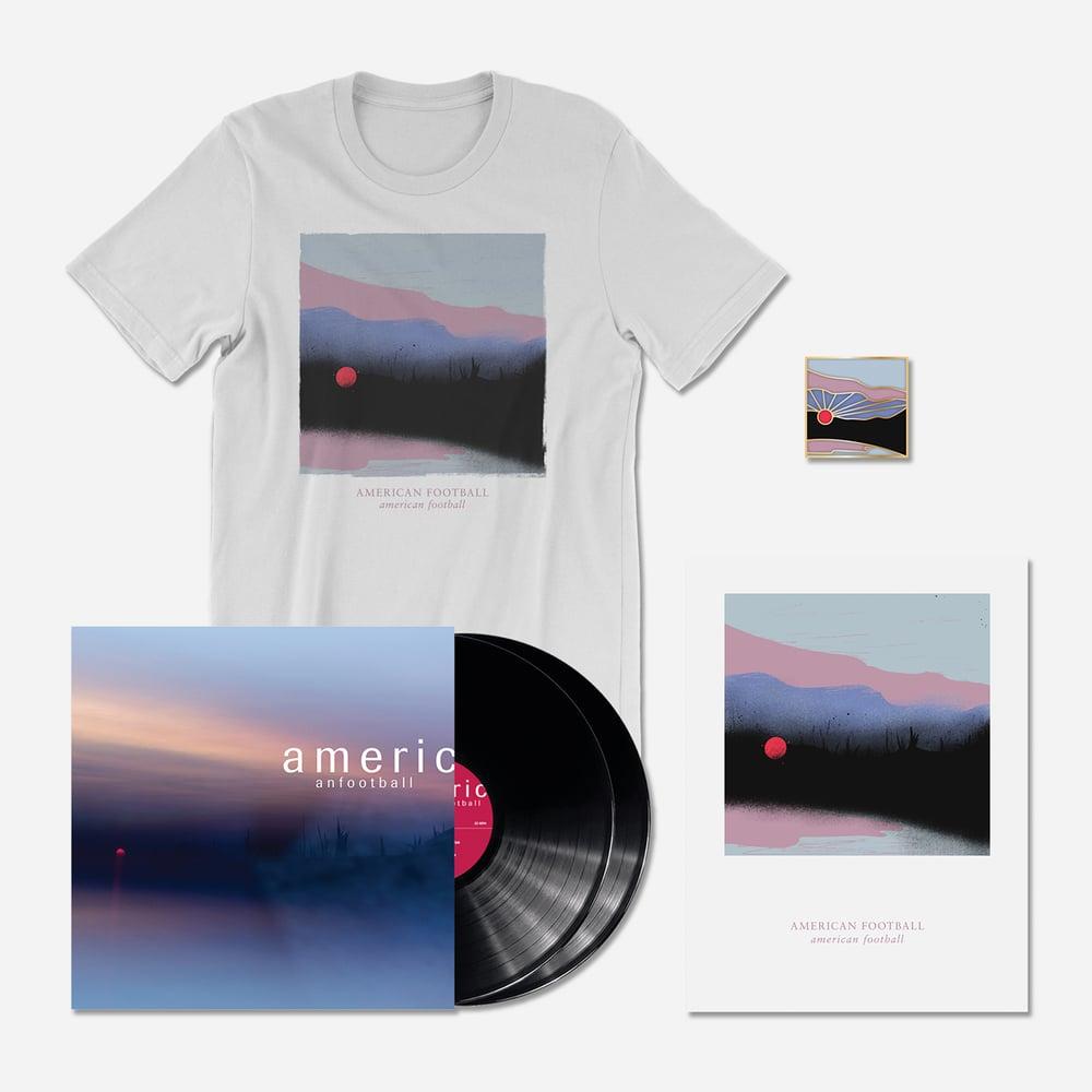 Image of PRE-ORDER (LP3) Deluxe Bundle: 180-Gram Deluxe Black 2xLP + T-Shirt + Poster + Pin [Ships 3/22/19]