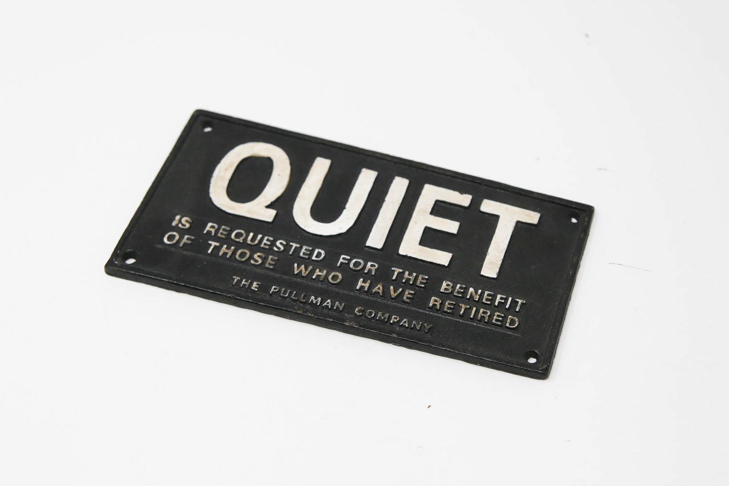 Image of Quiet Train Car Sign