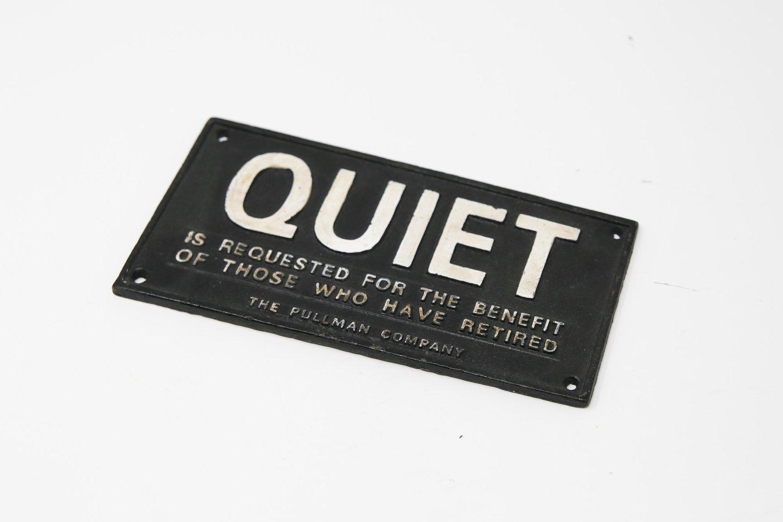 Image of Quiet Train Car Sign