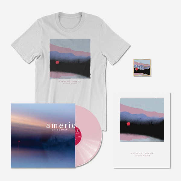 Image of American Football (LP3) Deluxe Bundle: 180-Gram Pink LP + T-Shirt + Poster + Pin