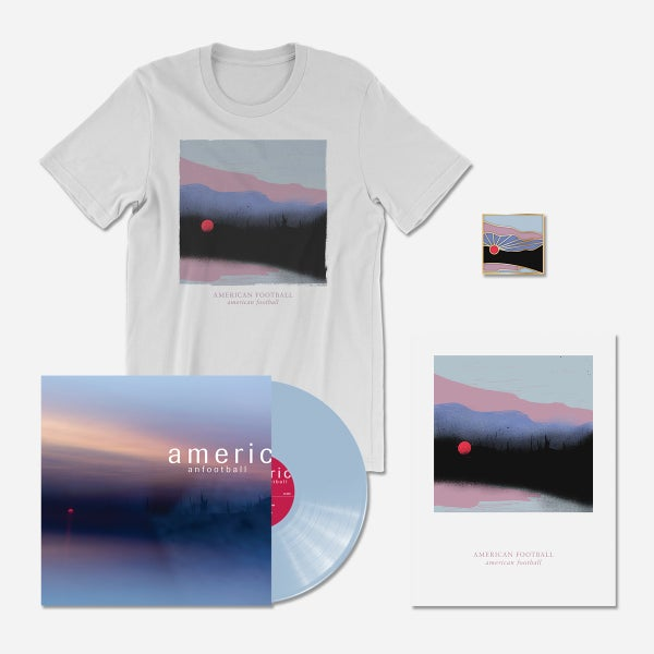 Image of PRE-ORDER (LP3) Deluxe Bundle: 180-Gram Light Blue LP + T-Shirt + Poster + Pin [Ships 3/22/19]