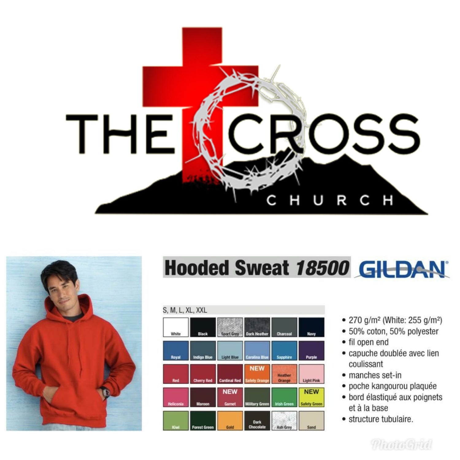 Image of Cross Hoodies S-XL