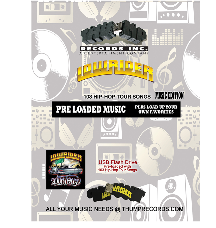 Image of Lowrider Tour Pre-Loaded Music  USB