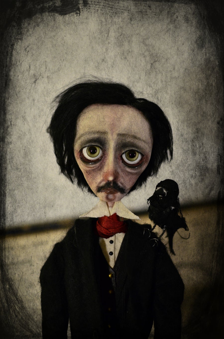 Image of *Custom order* OOAK handmade dark art doll EDGAR ALLAN POE.