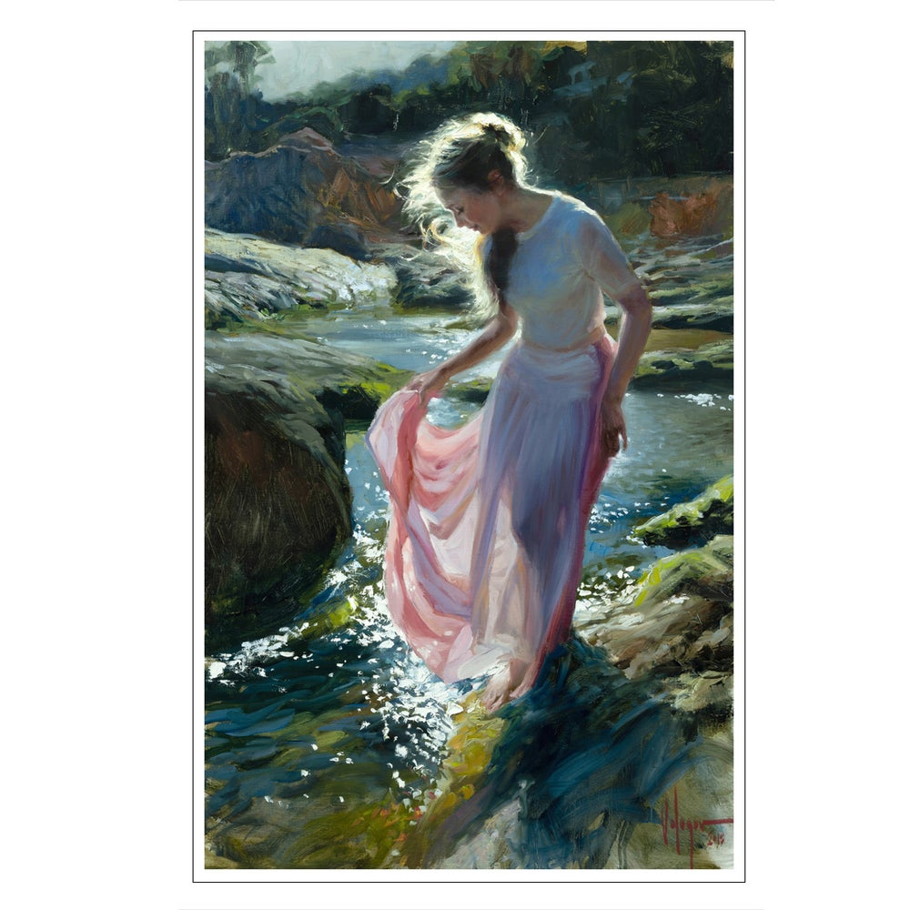 "Image of PRINT ON CANVAS ""SHE WALKS IN BEAUTY"""