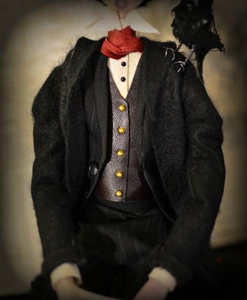Image of *Custom order* OOAK handmade dark art doll EDGAR ALLAN POE.