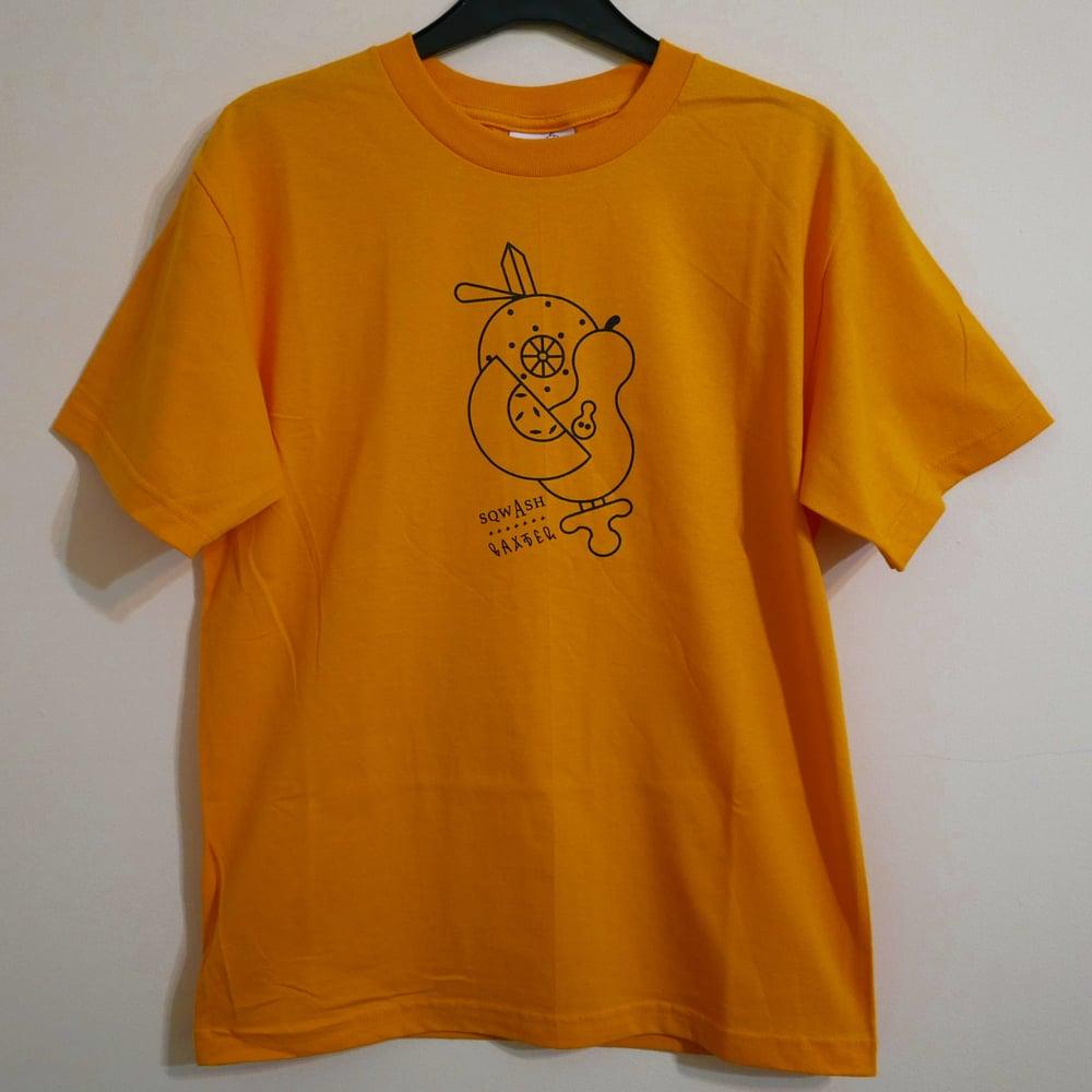 Image of Sqwash x Baxter Slice n Dice Tee - (Orange Gold)